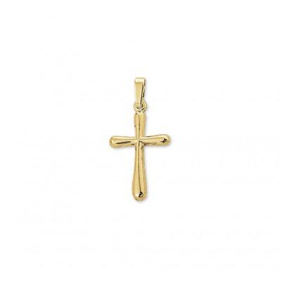 Gouden hanger kruis met glans