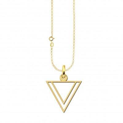 Gouden ketting met dubbele driehoek