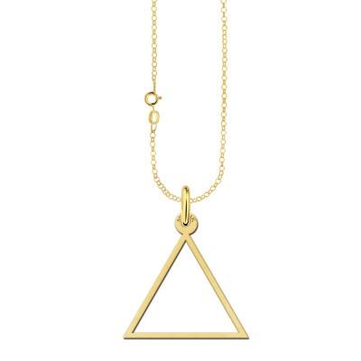 Gouden ketting open driehoek