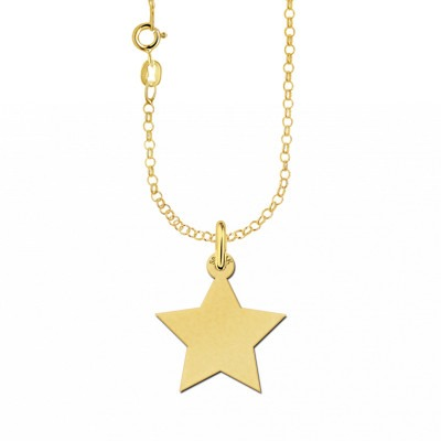 Gouden ketting ster