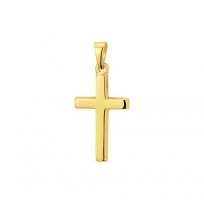 Gouden kruisje 14-karaat 18 mm