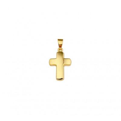 Gouden kruisje bol glanzend 16 mm