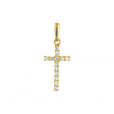 Gouden kruisje met zirkoniastenen
