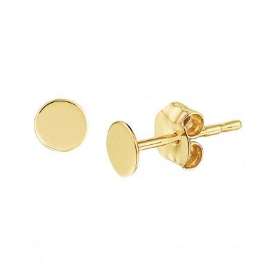 Gouden oorknoppen dicht rondje