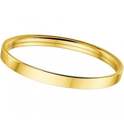 Gouden slavenarmband vlak 5 mm