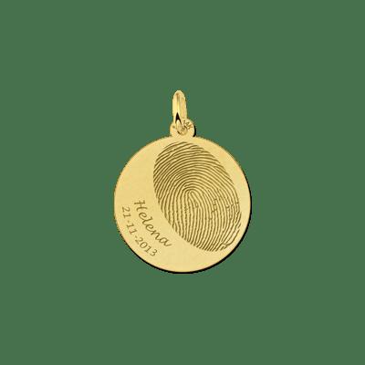 Vingerafdruk sieraad rond goud 20 mm Names4ever