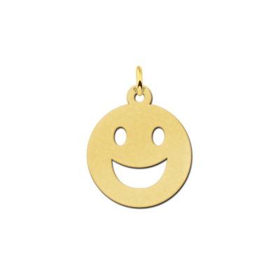 Gouden smiley hanger grote glimlach