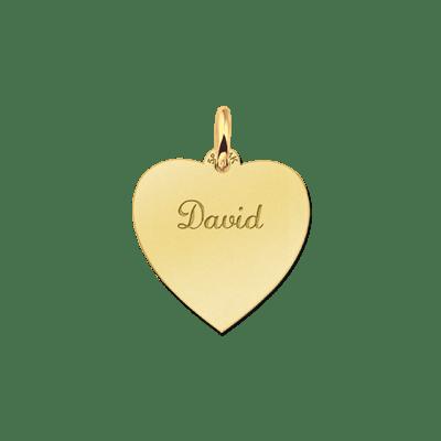 Gouden hartje graveerbaar Names4ever