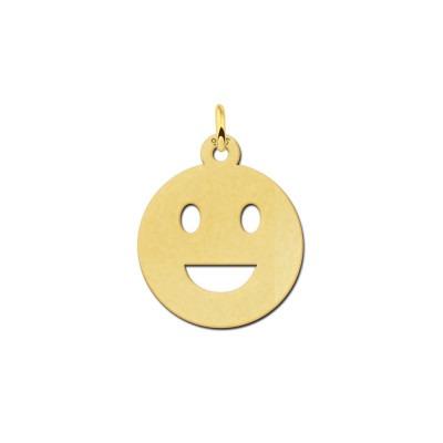 Gouden smiley hanger kleine glimlach
