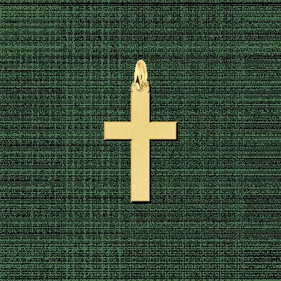 Gouden kruisje strak 14-karaat