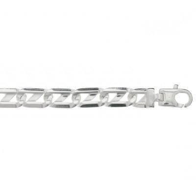 Luxe schakelarmband van zilver 7 mm anker schakel