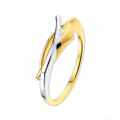 14-Karaat bicolor ring 7 mm