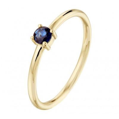 14K Gouden ring met edelsteen saffier