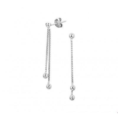 925 oorhangers zilver 38 mm hoogte