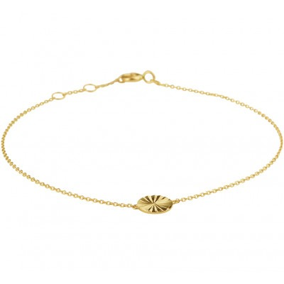 Armband goud gediamanteerd rondje