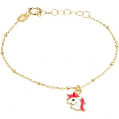 Armband goud met eenhoorn