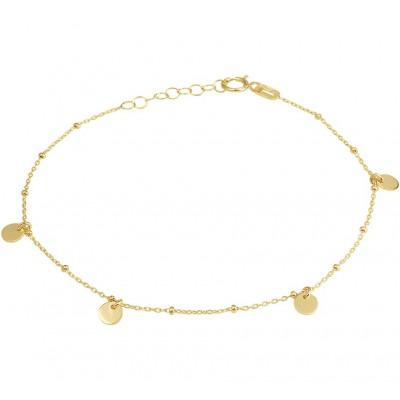Armband goud met vier rondjes