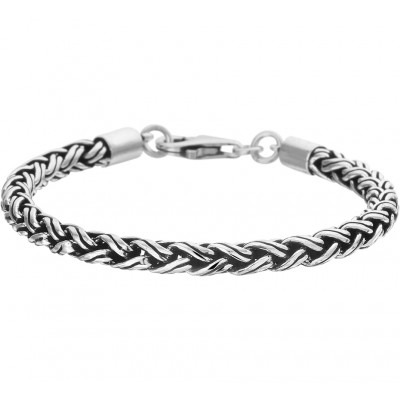 Armband heren zilver palmier 5 mm