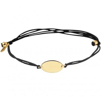 Armband katoen gouden ovaal