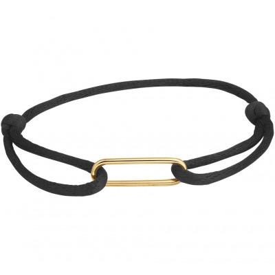 Armband satijn met 14-karaat goud