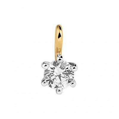 Bicolor edelsteen hanger met made-diamond