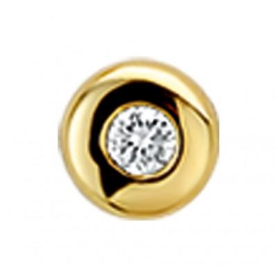 Diamant hanger 14 krt goud