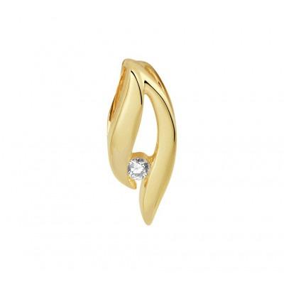 Diamant hanger goud