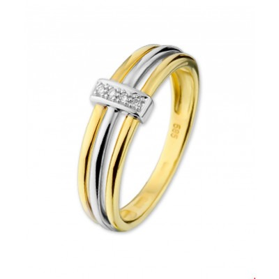 Diamant ring bicolor 7 mm
