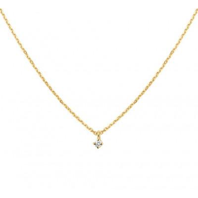 Diamanten ketting in het goud