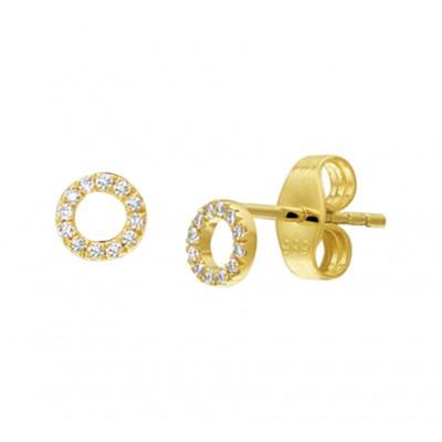 Diamanten oorbellen goud