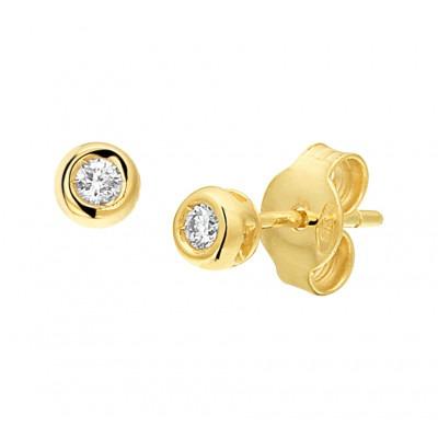 Diamanten oorbellen van goud