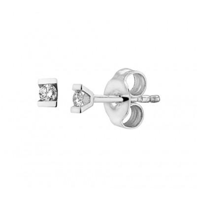 Diamanten oorbellen van witgoud