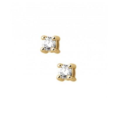 Diamanten oorknopjes