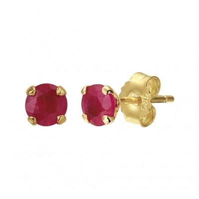 Edelsteen oorbellen oorknoppen goud