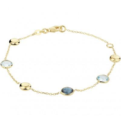 Edelstenen armband blauw topaas