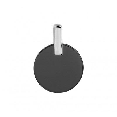 Elegante zilveren edelsteen hanger met onyx
