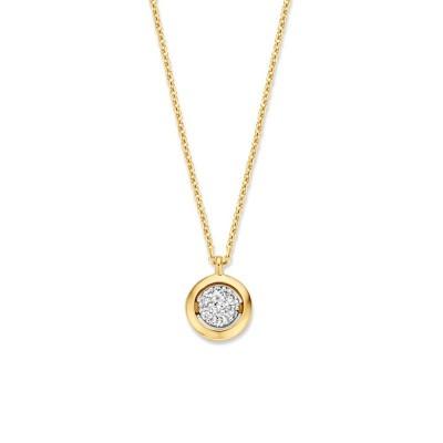 Geelgouden ketting met diamant hangertje