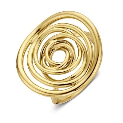Geelgouden ring met bijzonder rond ontwerp
