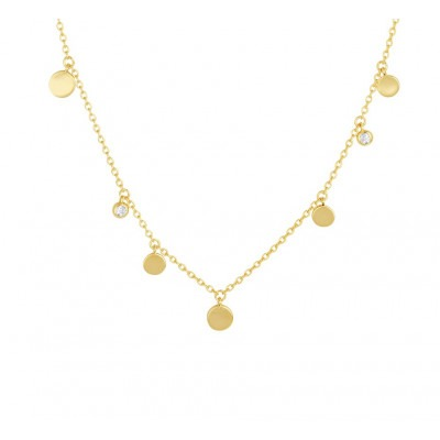 Gold plated ketting met rondjes