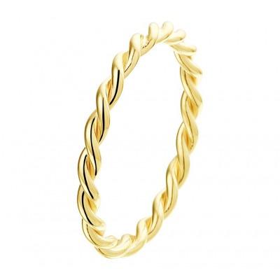 Gouden aanschuifring 14-karaat