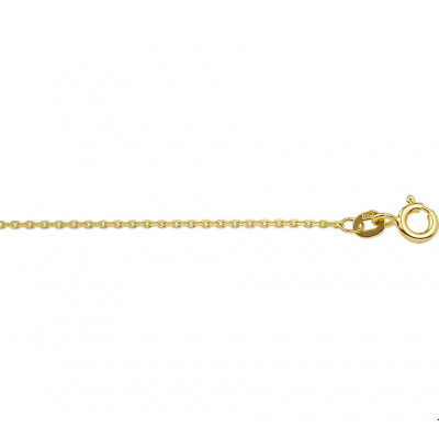 Gouden anker schakel ketting met 41-43-45 cm draaglengte