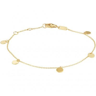 Gouden armband anker en rondjes