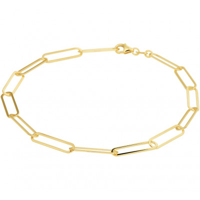 Gouden armband ankerschakel 4 mm