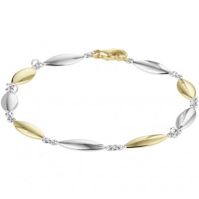 Gouden armband bicolor