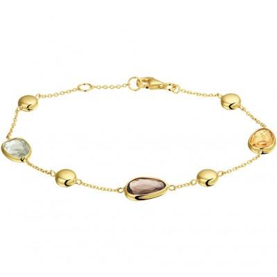 Gouden armband edelstenen