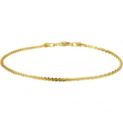 Gouden armband fantasie schakel 18 cm
