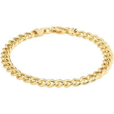 Gouden armband gourmetschakel 6 mm