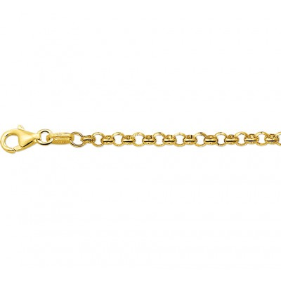 Gouden armband jasseron 19 cm