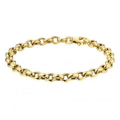 Gouden armband jasseron 5 mm
