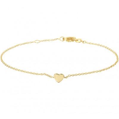 Gouden armband met hartje